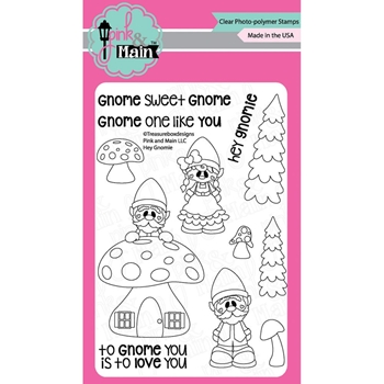 Pink and Main HEY GNOMIE Clear Stamp Set 021101