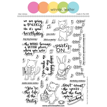 Winnie and Walter PARTY ON Clear Stamps WW089