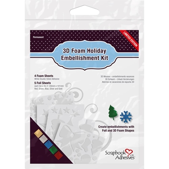 Scrapbook Adhesives 3D FOAM HOLIDAY EMBELLISHMENT KIT 01224
