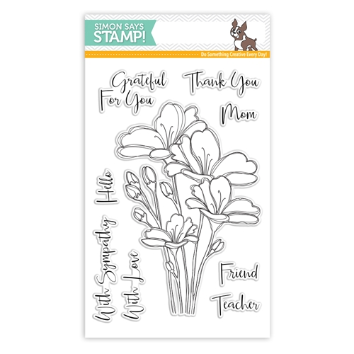 Simon Says Clear Stamps BOUQUET OF THANKS SSS101748 One Of A Kind Preview Image