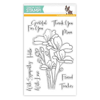 Simon Says Clear Stamps BOUQUET OF THANKS SSS101748 One Of A Kind
