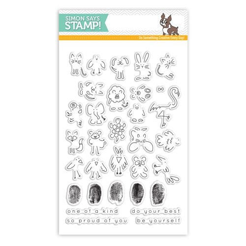 Simon Says Stamp Fingerprint Doodles Clear Stamp Set