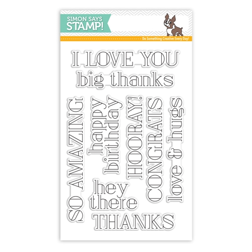 Simon Says Clear Stamps BIG GREETINGS 1 SSS101751 One Of A Kind Preview Image