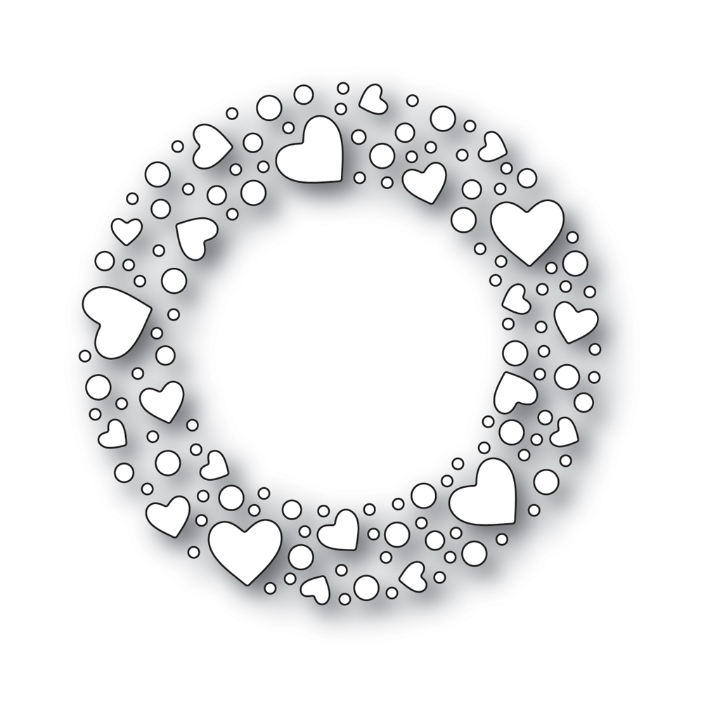 Simon Says Stamp HEART SPRINKLE WREATH Wafer Dies