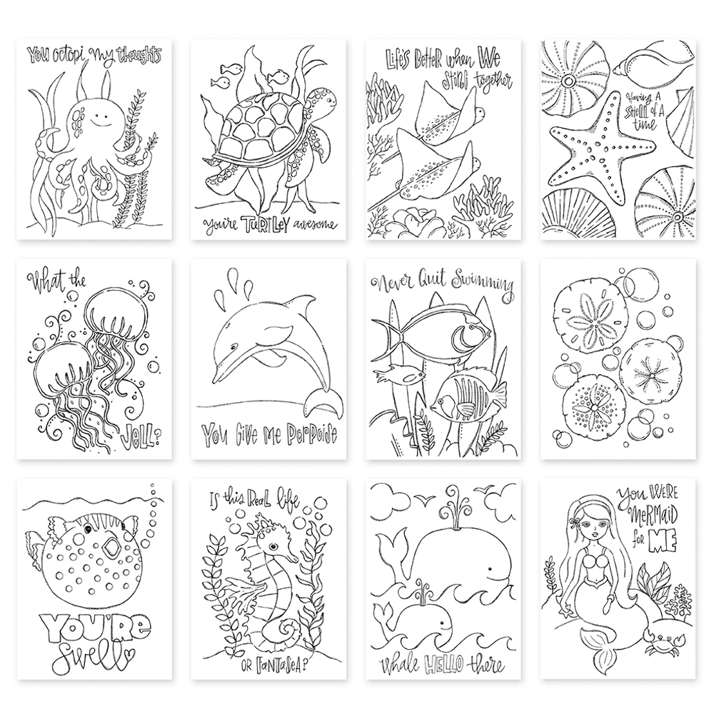 Simon Says Stamp Suzy's PUNDER THE SEA Watercolor Paintable Prints