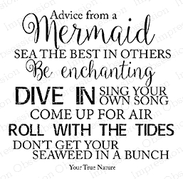 Impression Obsession Cling Stamp ADVICE MERMAID F17184