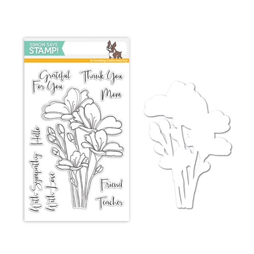 Simon Says Stamps And Dies BOUQUET OF THANKS Set299BT One Of A Kind Preview Image