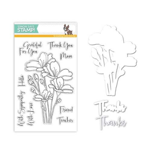 Simon Says Stamps And Dies SENTIMENT FLORALS Set300SF One Of A Kind Preview Image