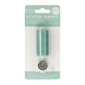We R Memory Keepers STITCH HAPPY AQUA Multimedia Thread 660374