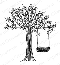 Impression Obsession Cling Stamp SWING TREE E19537