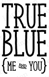 Impression Obsession Cling Stamp TRUE BLUE D14630