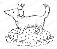 Impression Obsession Cling Stamp CROWNED PUPPY D15116