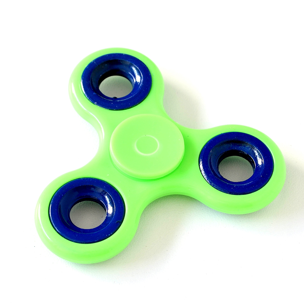 Fidget Spinner GREEN & BLUE 2 Tone Hand Spinners HSFS003 zoom image