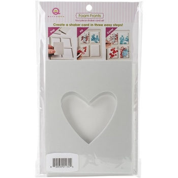 Queen & Company SOLO HEART Foam Front Card Shaker Kit FF1134