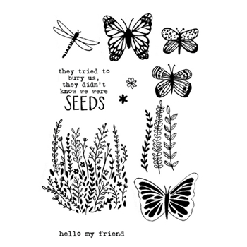 Flora and Fauna WILDFLOWER SEEDS Clear Stamp Set 20144