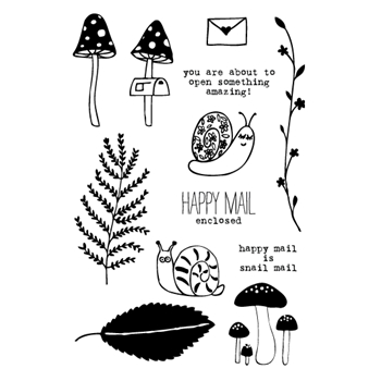 Flora and Fauna SNAIL MAIL Clear Stamp Set 20141
