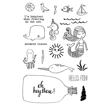 Flora and Fauna MERMAID KISSES Clear Stamp Set 20138