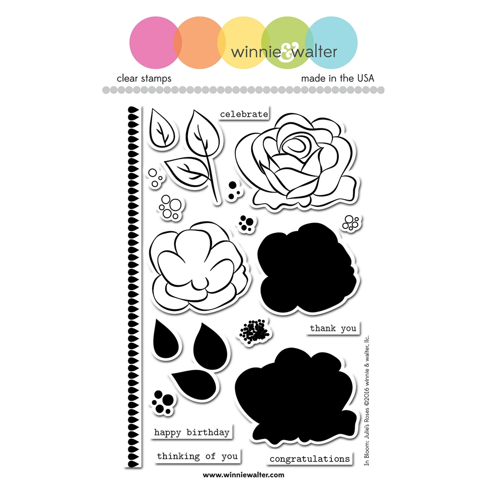 Winnie and Walter IN BLOOM JULIE'S ROSES Clear Stamps WW068 zoom image