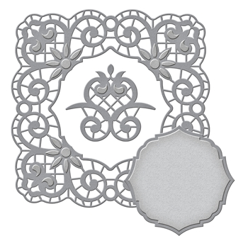 S5-310 Spellbinders ISABELLA FRAME Etched Dies Venise Lace by Becca Feeken
