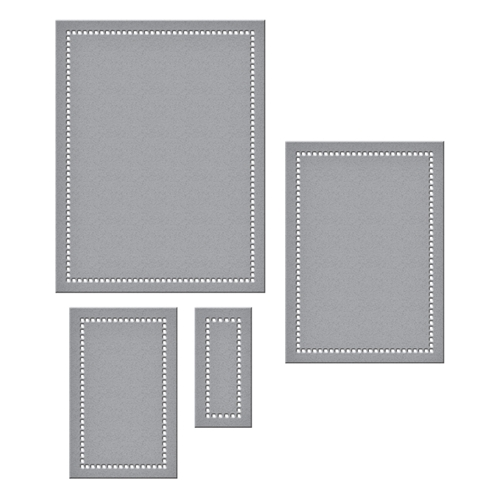 S5-308 Spellbinders HEMSTITCH RECTANGLES Etched Dies Venise Lace by Becca Feeken Preview Image