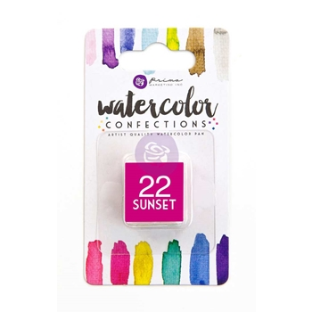 Prima Marketing 22 SUNSET Watercolor Confections Pan Refill 596194