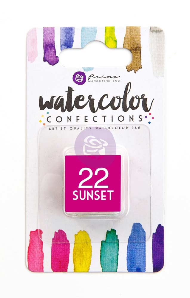 Prima Marketing 22 SUNSET Watercolor Confections Pan Refill 596194 zoom image
