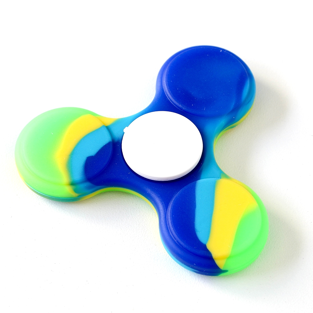 Fidget Spinner GREEN, BLUE, & YELLOW MARBLED Hand Spinners HSFS011 zoom image