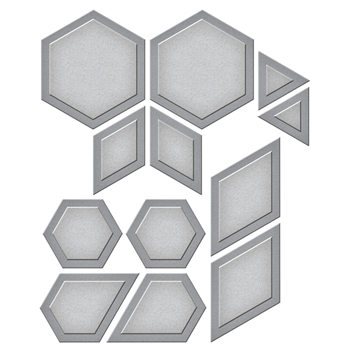S4-794 Spellbinders HEXAGON QUILT Etched Dies Quilt It by Lene Lok