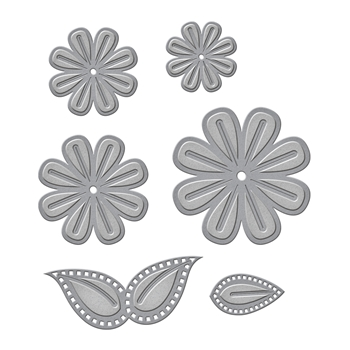 S4-792 Spellbinders CINCH AND GO FLOWERS TWO Etched Dies Venise Lace by Becca Feeken