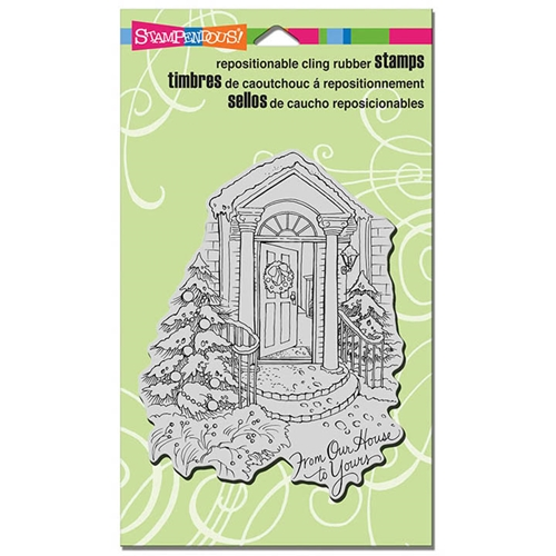 Stampendous Cling Stamp OUR DOORSTEP Rubber UM CRR308 Preview Image