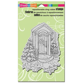 Stampendous Cling Stamp OUR DOORSTEP Rubber UM CRR308