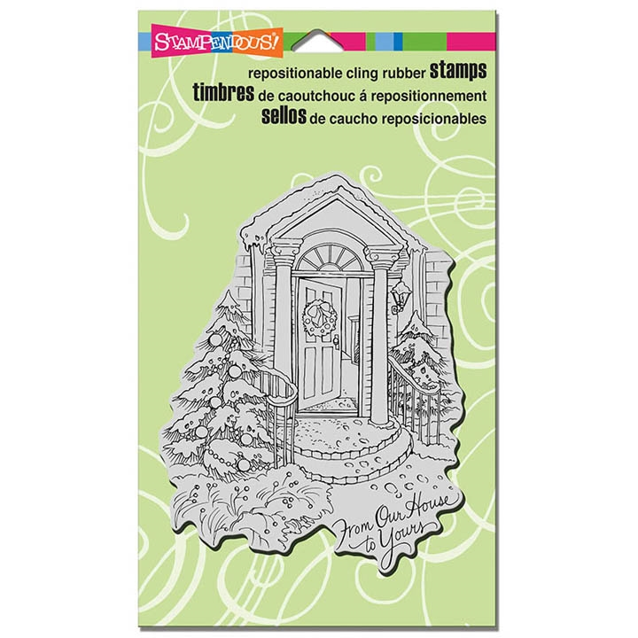 Stampendous Cling Stamp OUR DOORSTEP Rubber UM CRR308 zoom image