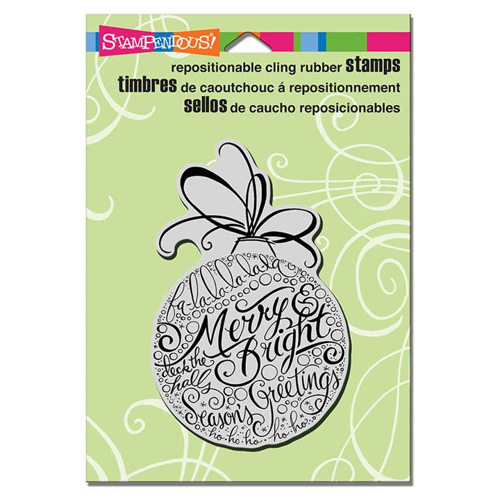 Stampendous Cling Stamp MERRY ORNAMENT Rubber UM CRP309 zoom image