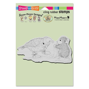Stampendous Cling Stamp BIRDIE BOOTIES Rubber UM HMCP82 HOUSE MOUSE