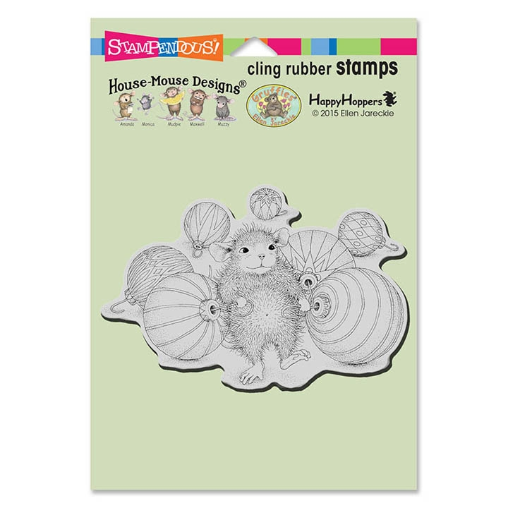 Stampendous, House Mouse Ornament Collecting Cling Stamp