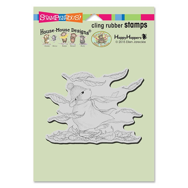 Stampendous. House Mouse Autumn Woods Cling Stamp