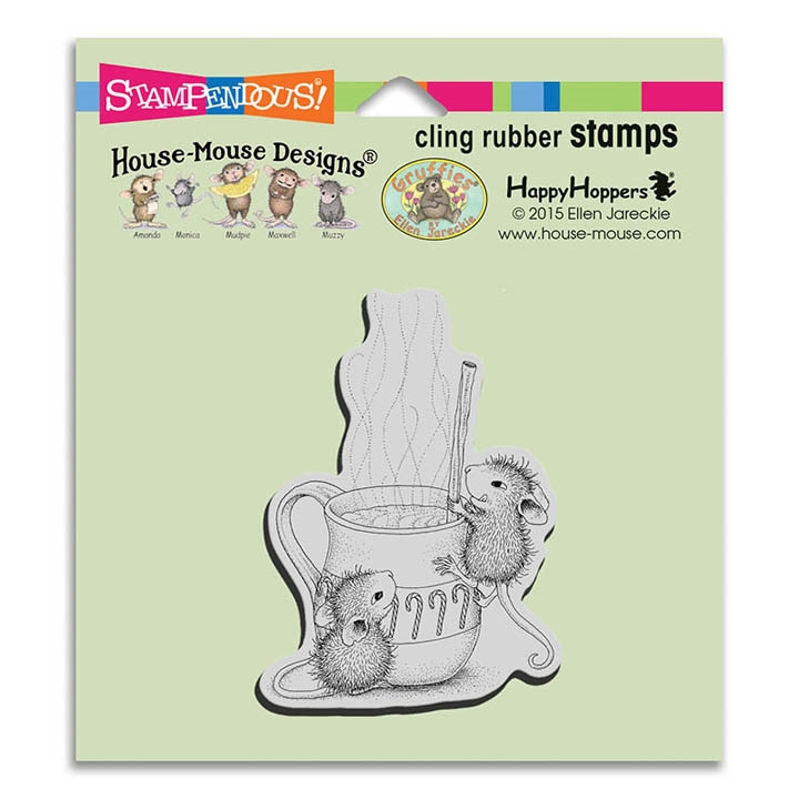 Stampendous Cling Stamp WARM DRINK Rubber UM HMCV35 House Mouse zoom image