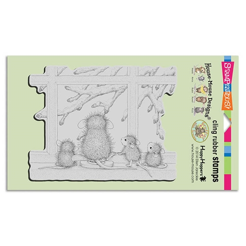 Stampendous Window Wonder House Mouse Cling Stamp