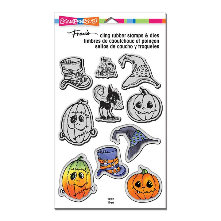 Stampendous HALLOWEEN HATS Stamp and Die Set CLD02 zoom image