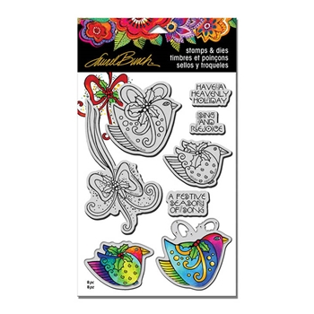 Stampendous HEAVENLY HOLIDAY Laurel Burch Stamp and Die Set LBCLD01