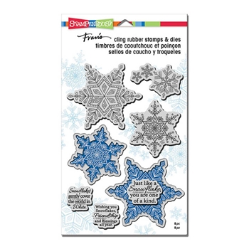 Stampendous WINTER WHITE Stamp and Die Set CLD05