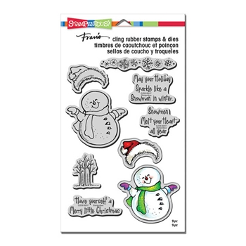 Stampendous SMILING SNOWMAN Stamp and Die Set CLD06