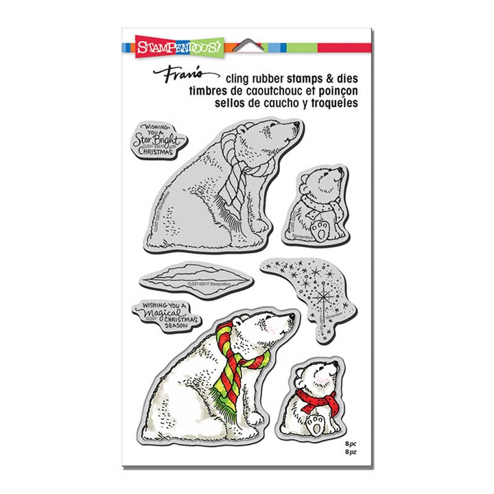 Stampendous POLAR BEARS Stamp and Die Set CLD07 zoom image