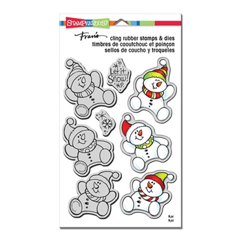 Stampendous SNOWMAN TRIO Stamp and Die Set CLD08