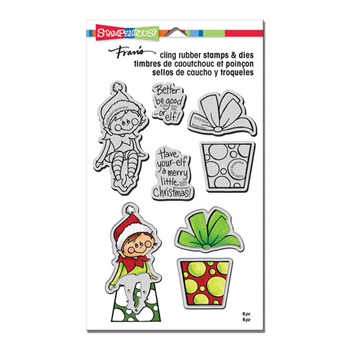 Stampendous SEATED ELF Stamp and Die Set CLD09