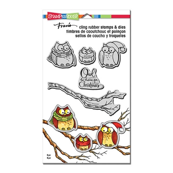 Stampendous OWL BE HOME Stamp and Die Set CLD10