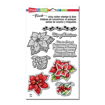 Stampendous WRAPPED POINSETTIA Stamp and Die Set CLD11