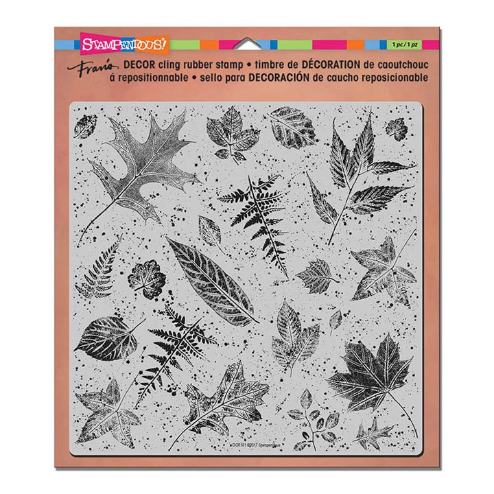 Stampendous Cling Stamp DECOR LEAVES Rubber UM DCR101 zoom image