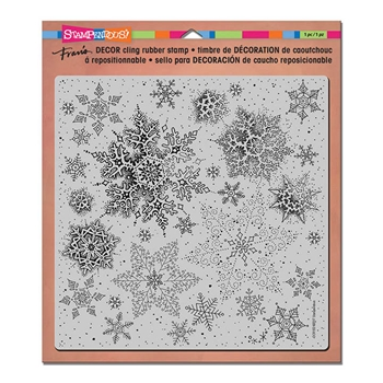 Stampendous Cling Stamp DECOR SNOWFLAKES Rubber UM DCR102