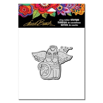 Stampendous Cling Stamp CAT ANGEL Rubber UM Laurel Burch LBCV007